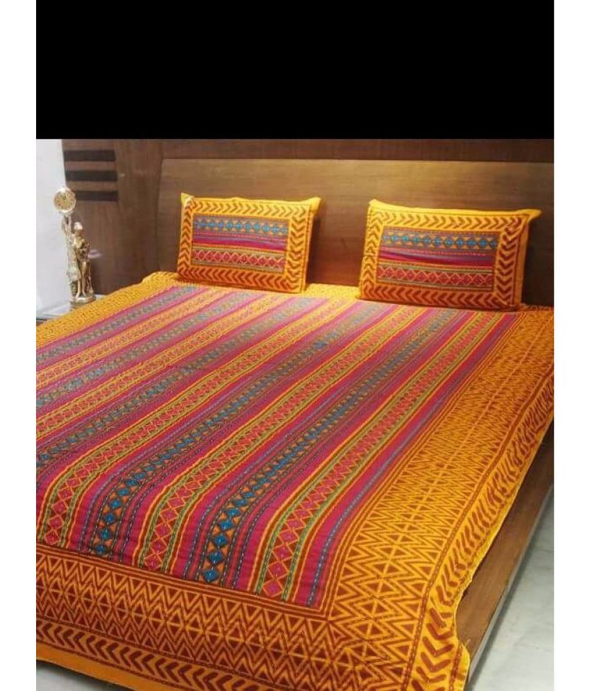 Jaipuri Bedsheet Cotton Double Bedsheet With 2 Pillow Covers