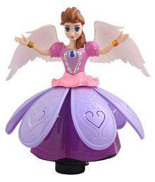 Taaza Garam Kids Princess Doll Dancing & Rotating Angel Girl Flashing Lights with Music