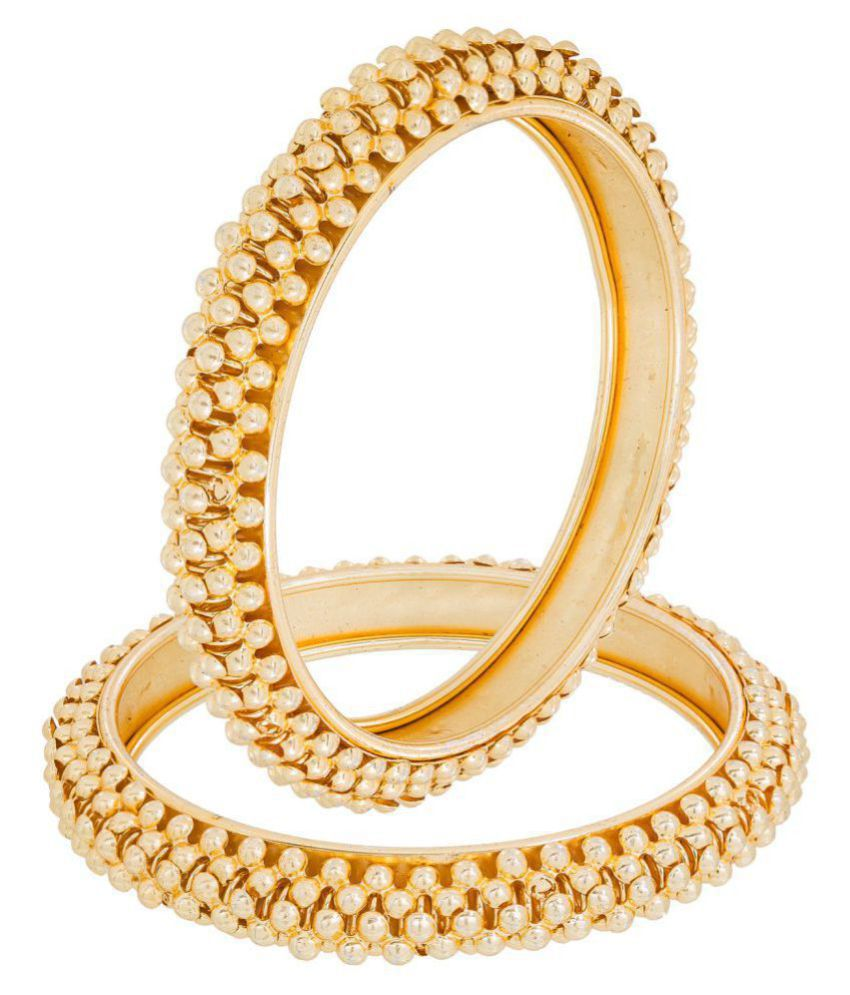 Aadita fashion Jewellery Gold Plated Bangles