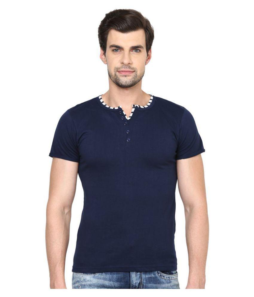 Ishwa Navy Henley T-Shirt