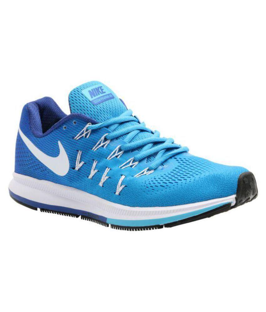 nike pegasus 33 sky blue running shoes