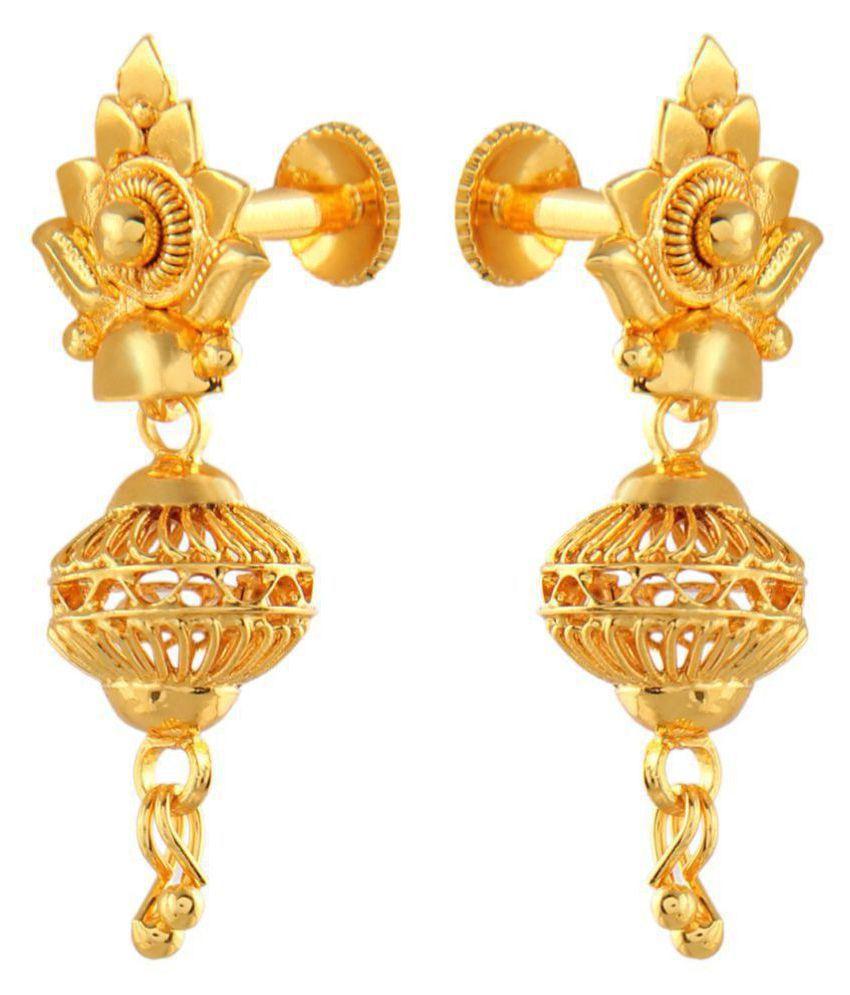 Urbanela Gold Plated Earring With Guaranteed Polish Adu Eg11