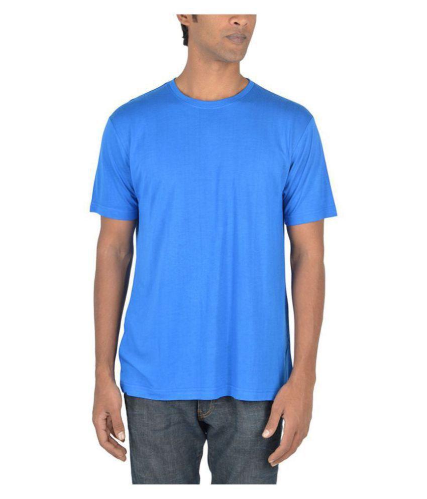 Woodwose Organic Clothing Blue Round T-Shirt