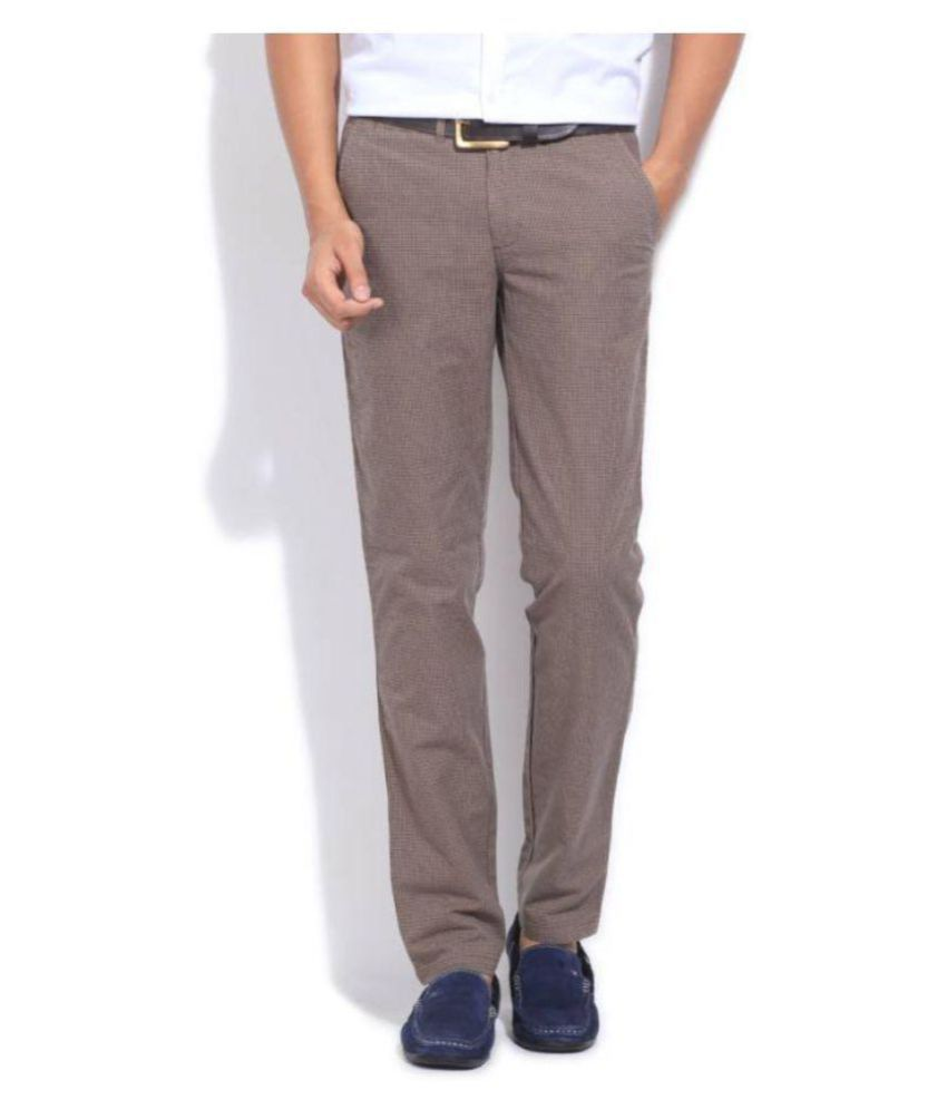 United Colors of Benetton Beige Slim -Fit Flat Trousers