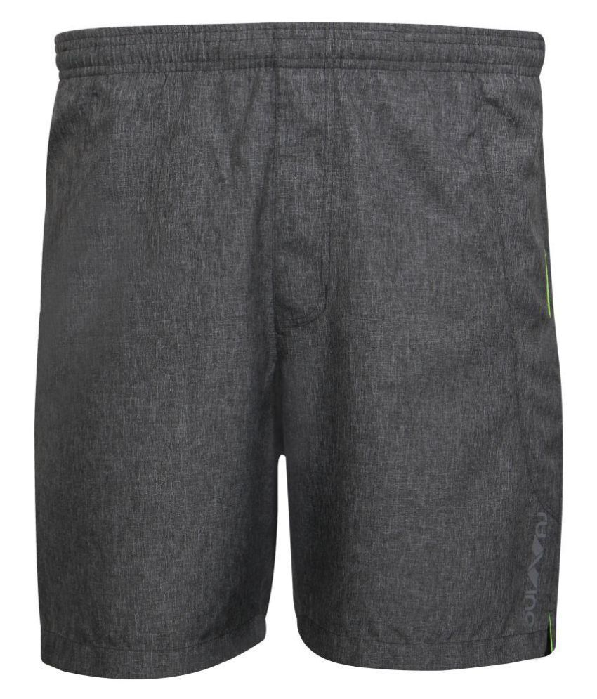 Nivia Dark Grey Polyester Running Shorts