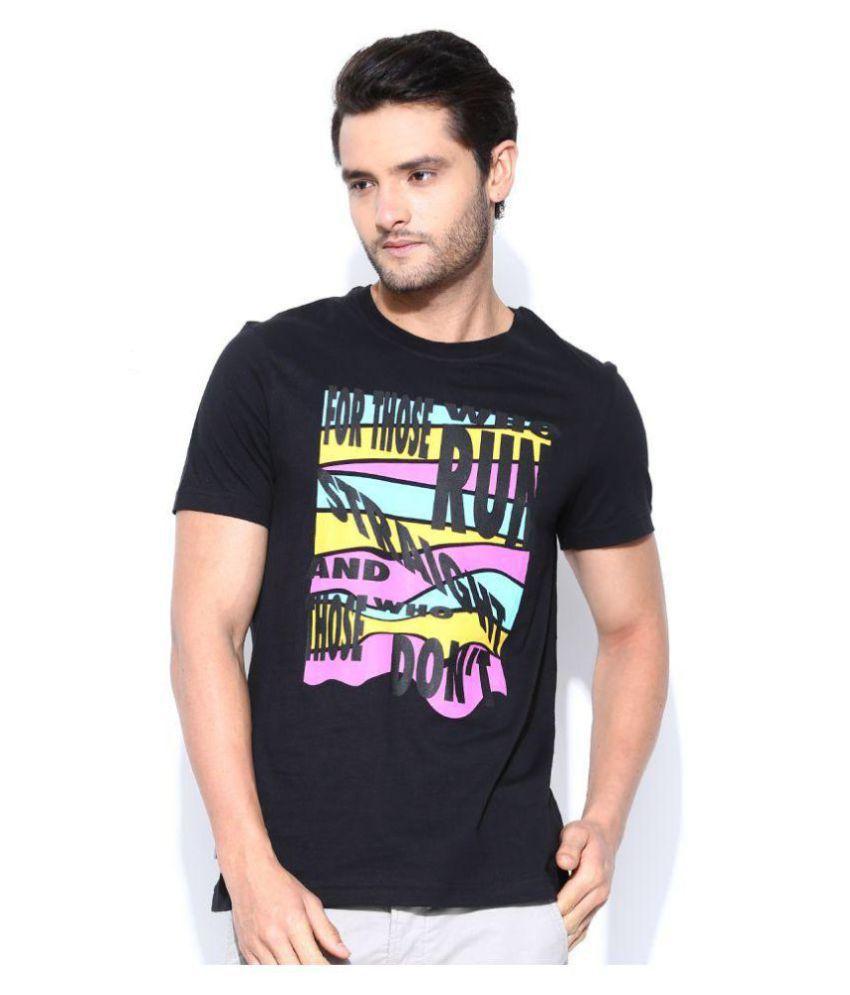 Reebok Black Round T-Shirt