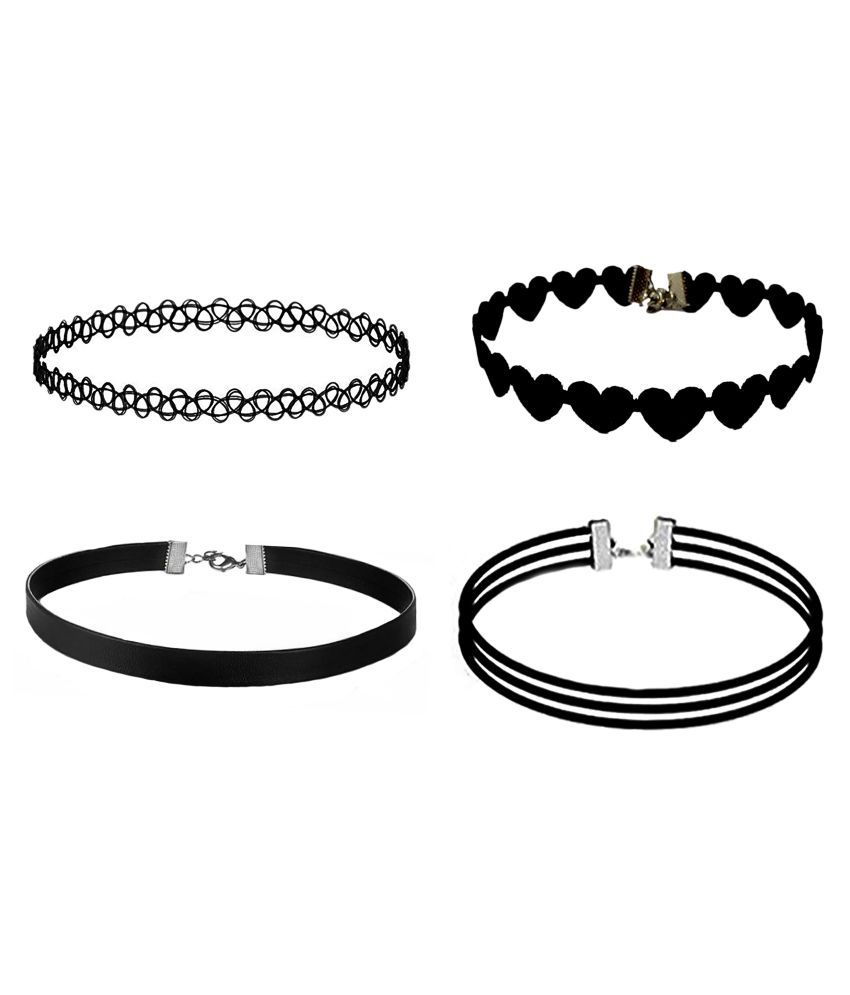 AMSER Set Of 4 Fabric Choker