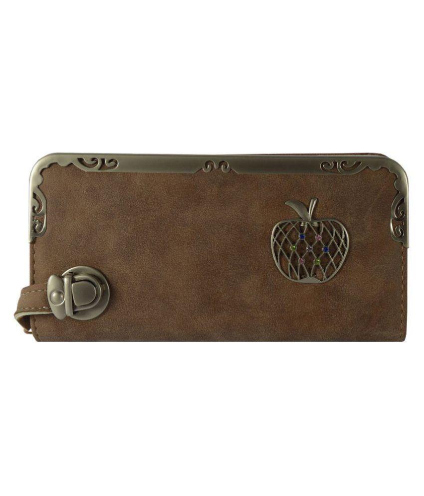 Glitters Online Brown Wallet