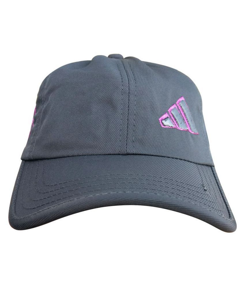 Adidas Gray Polyester Caps