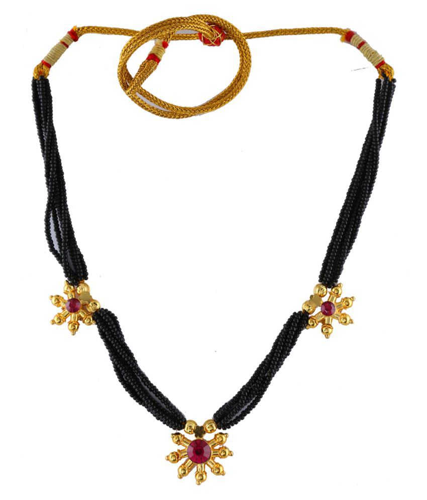 Anuradha Art Pink Colour Very Classy Pendant Style Traditional Thushi Necklace For Women