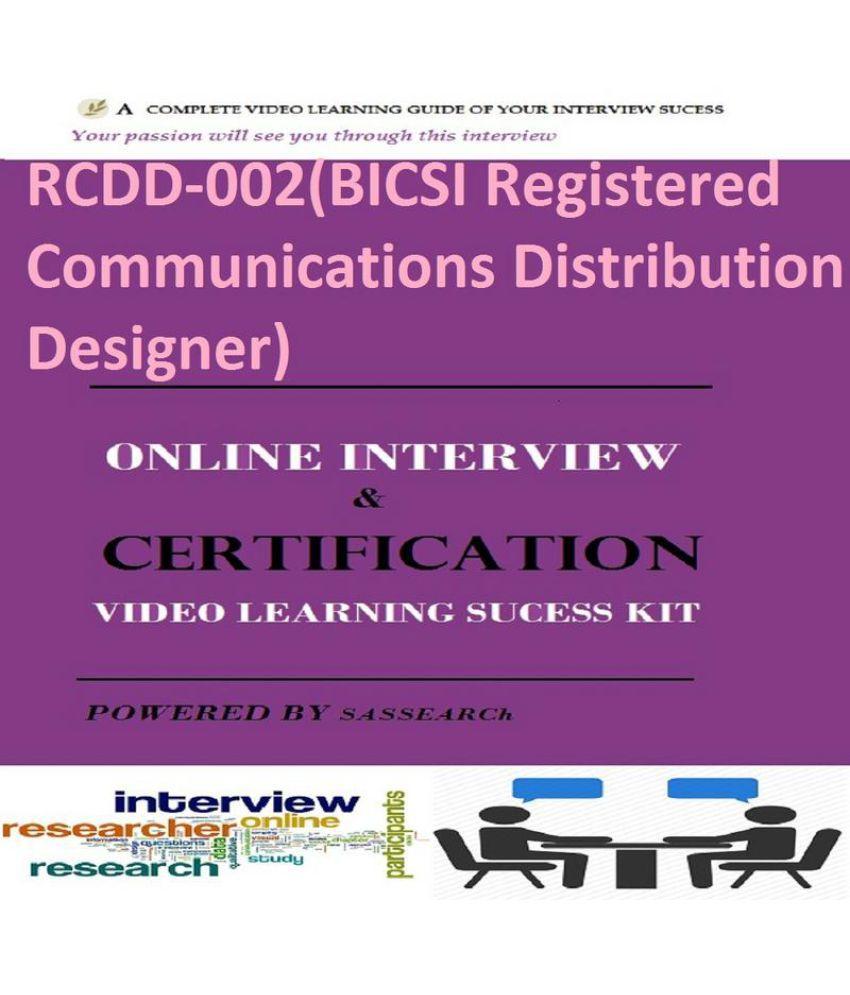 Rcdd 002bicsi Registered Communications Distribution Designer