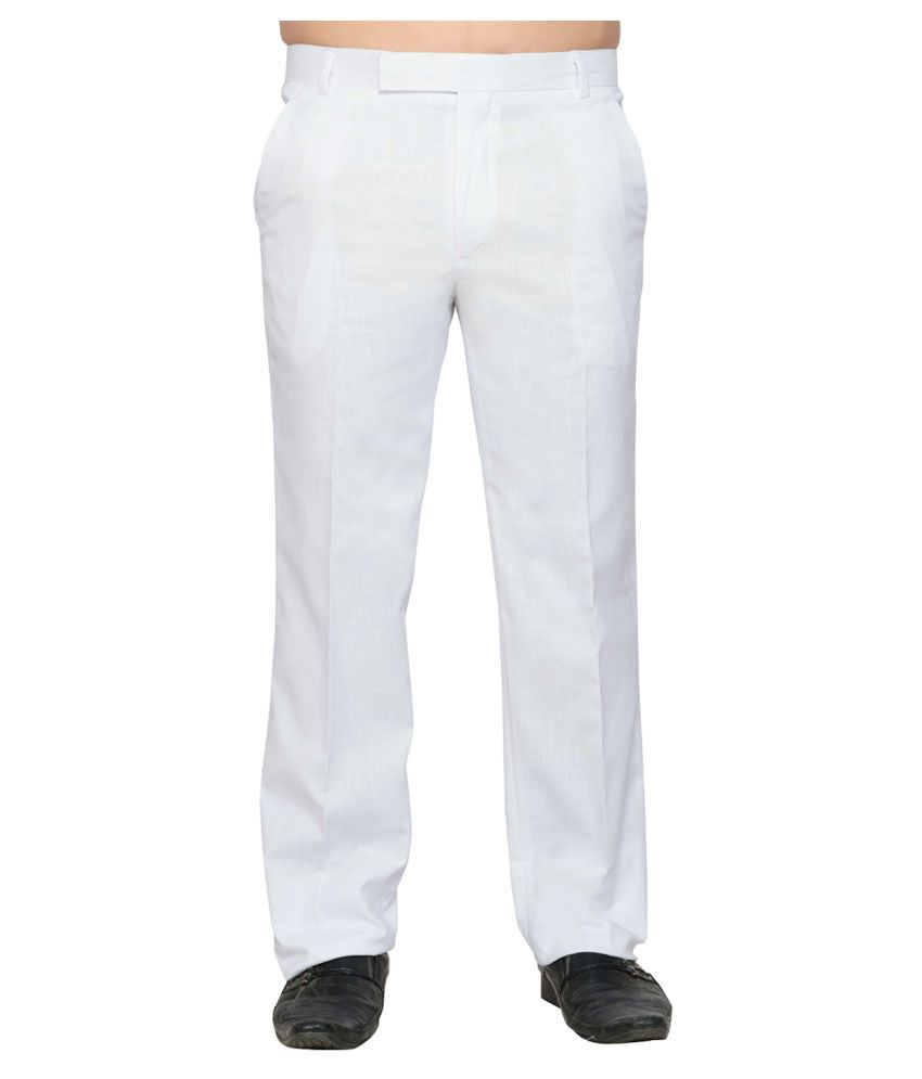 Lee zone White Regular -Fit Flat Trousers