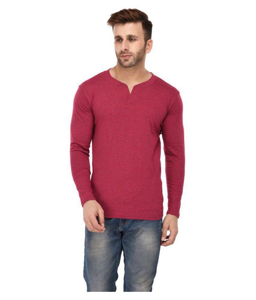 birdstone Maroon V-Neck T-Shirt