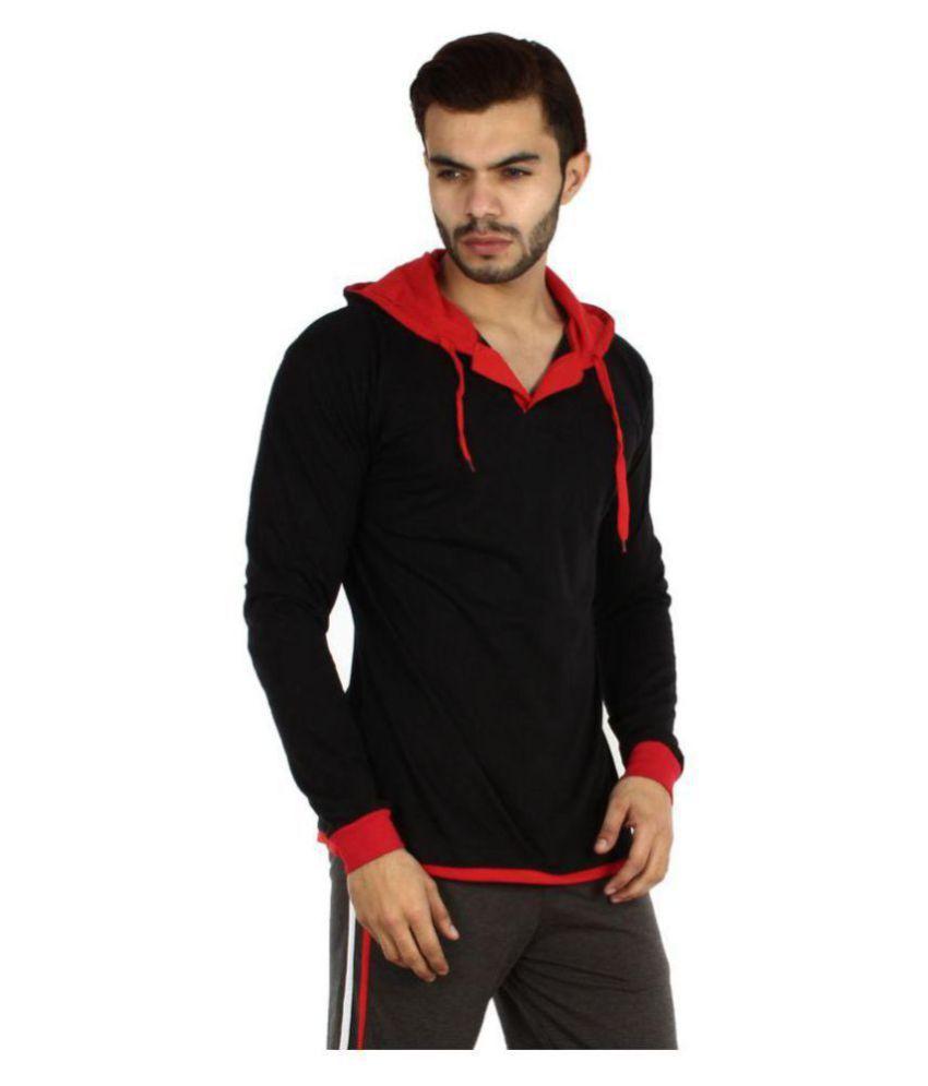V3SQUARED Black Hooded T-Shirt