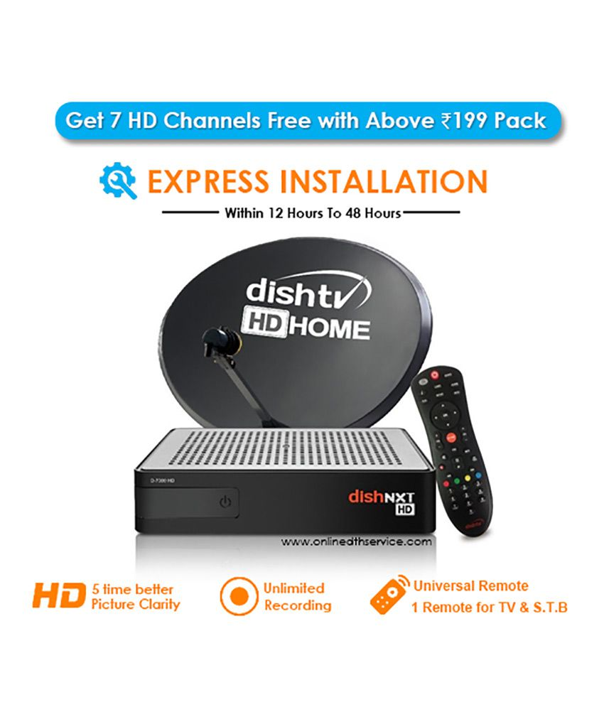 Dish Tv HD New Connection With 1 Month Super Family HD Pack for All India