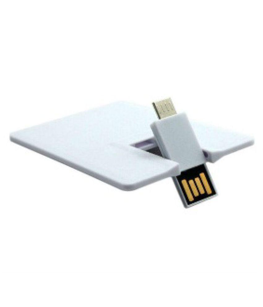 Adoniz PLAIN CREDIT CARD TYPE 16GB USB 2.0 OTG Pendrive Pack of 1