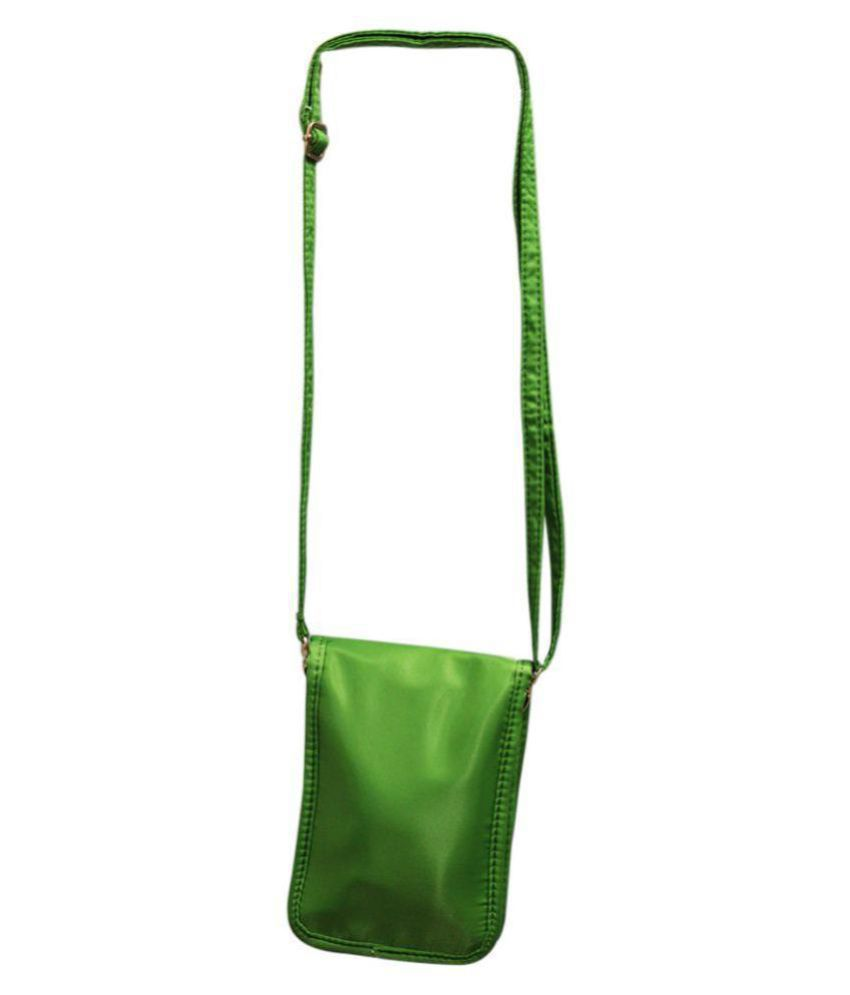 Diva Green Faux Leather Sling Bag