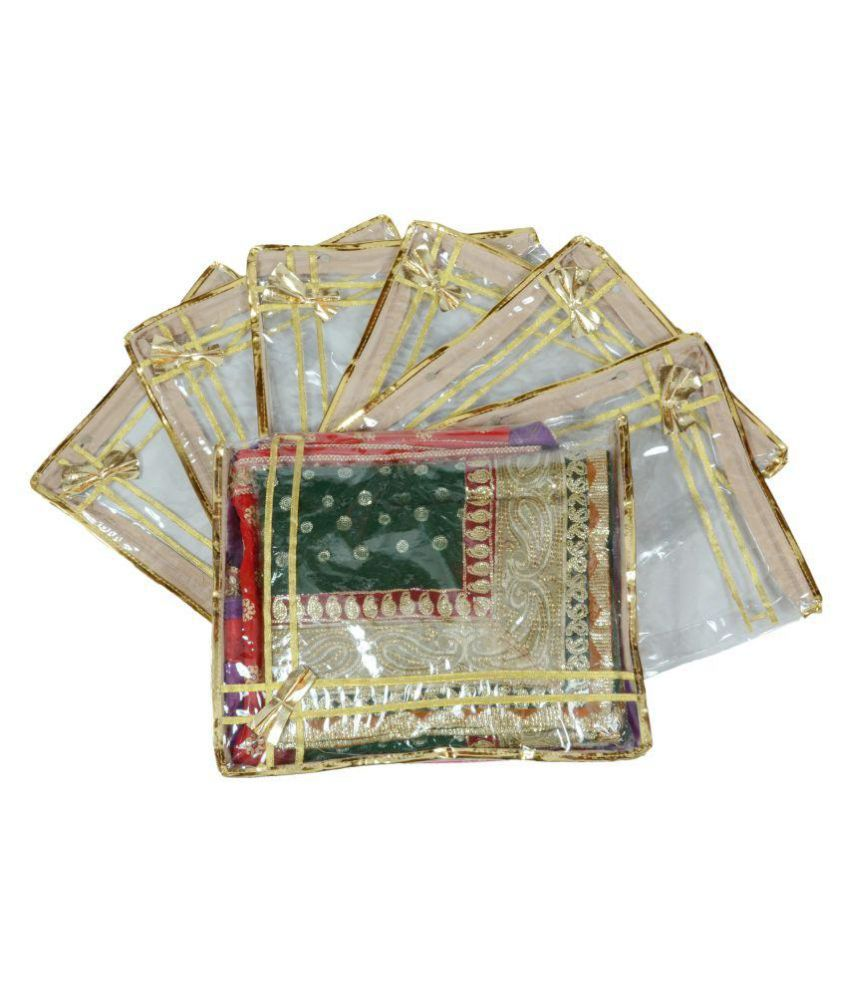 Fancywala Gold Saree Covers - 2 Pcs
