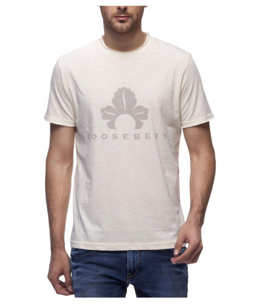 GOOSEBERY White Round T-Shirt