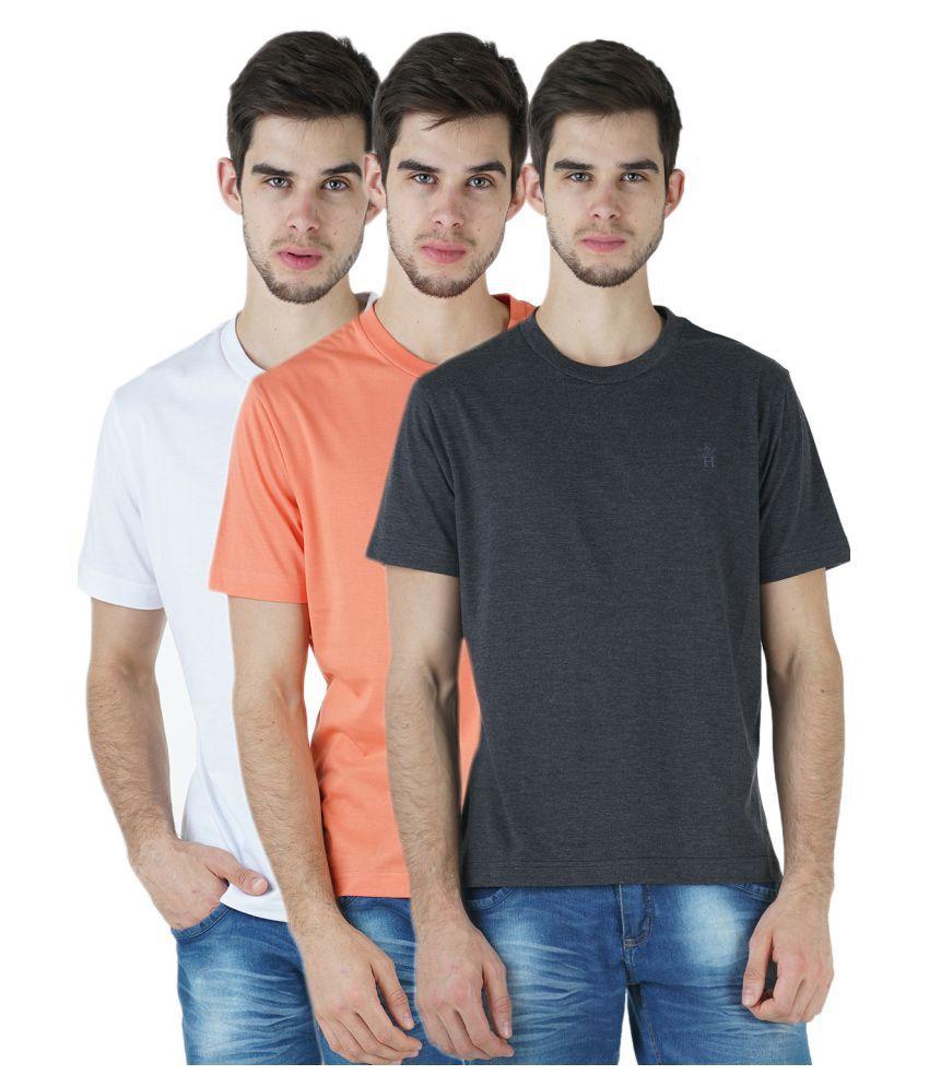 HUMBERT Multi Round T-Shirt Pack of 3