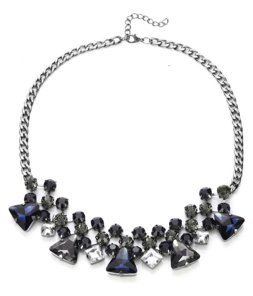 NOVADAB Estate Sparkling Sapphire Gems Statement Necklace