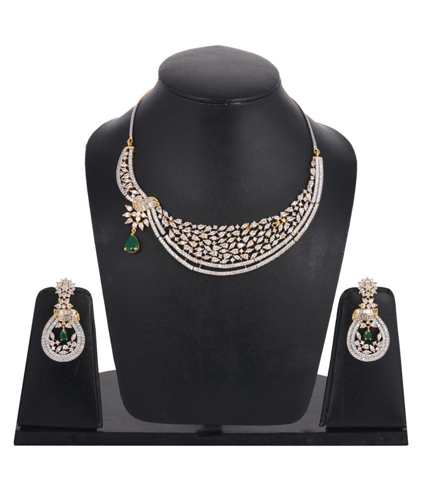 Tistabene Contemporary Modern Beautiful Designer Stylish Fancy Party Wear Necklace Set for Girls And Women (NS-0234)