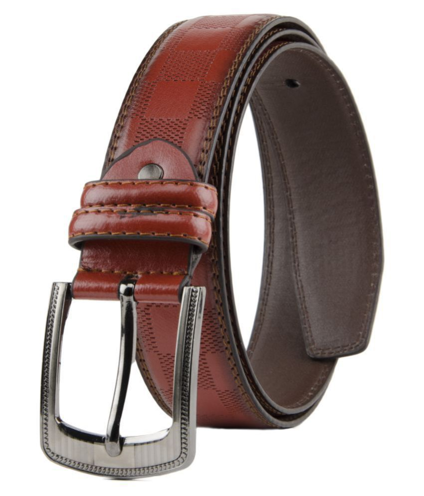 Winsome Deal Red Faux Leather Formal Belts