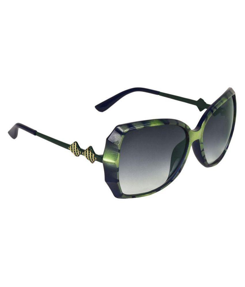 Abner Black Oversized Sunglasses ( AWS-367 )
