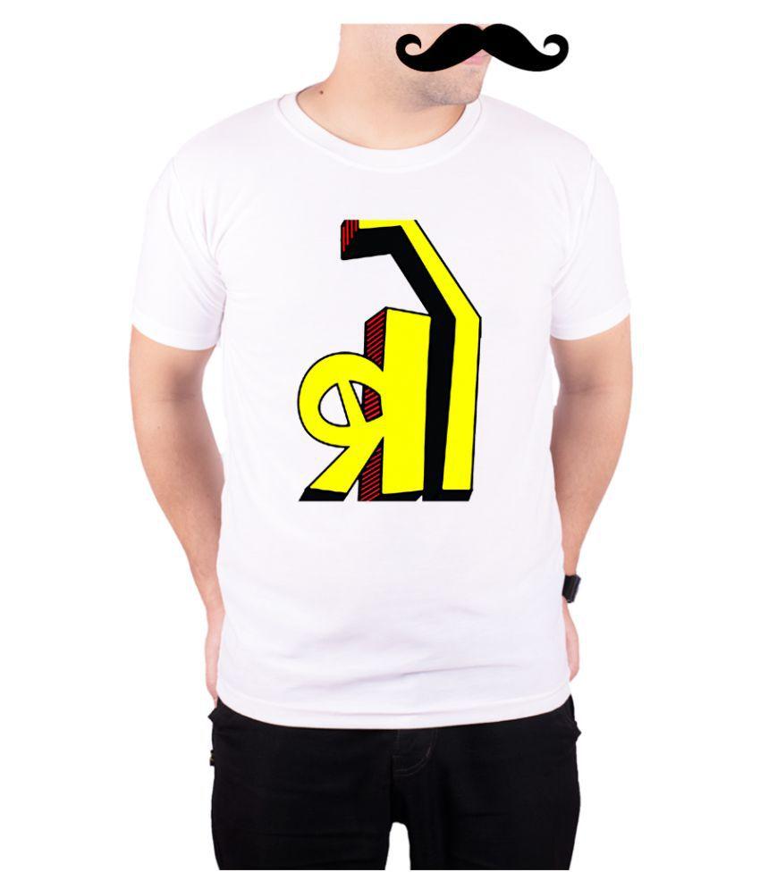 Mooch Wale White Round T-Shirt