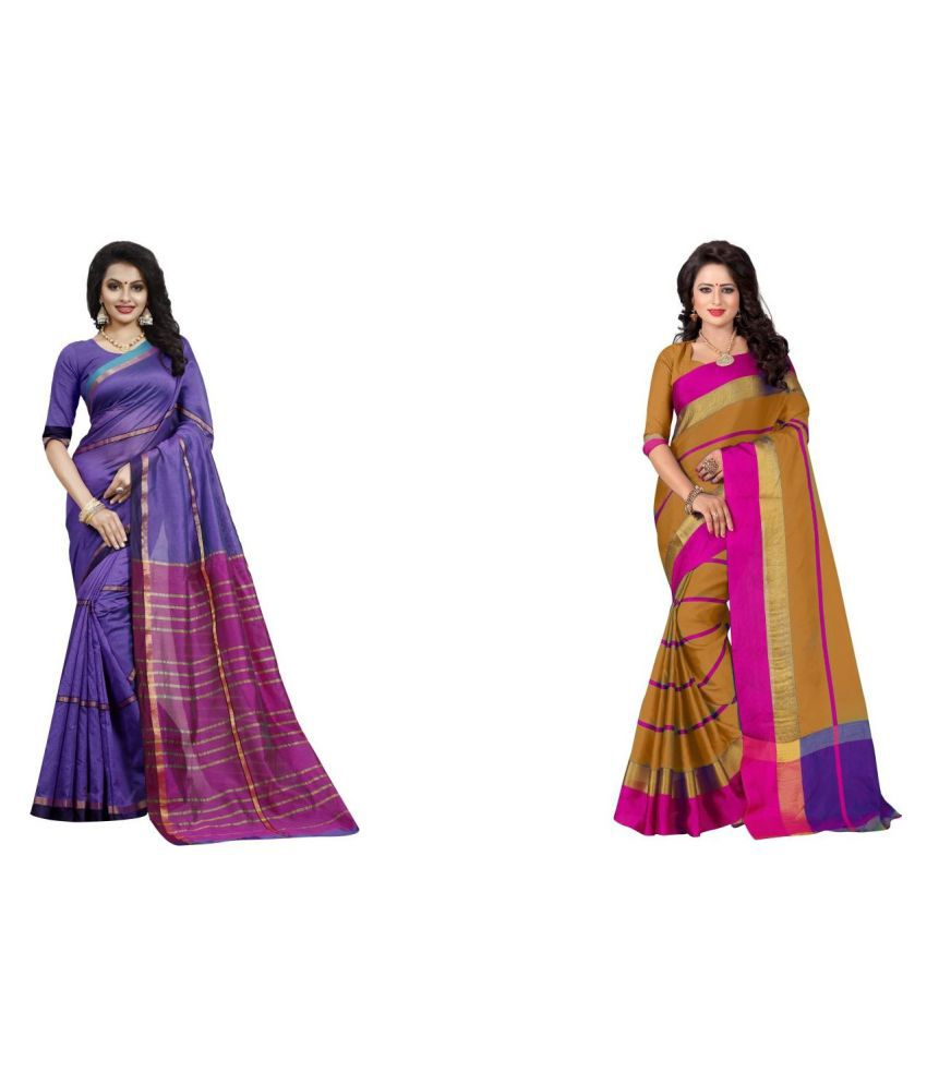 veronika closet Multicoloured Cotton Silk Saree Combos