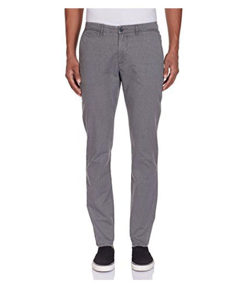 United Colors of Benetton Grey Regular -Fit Flat Trousers