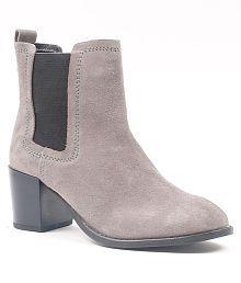 Carlton London Gray Ankle Length Chelsea Boots