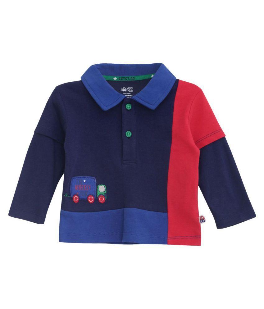 Mini Klub Boys Polo T-shirt With Full Sleeves