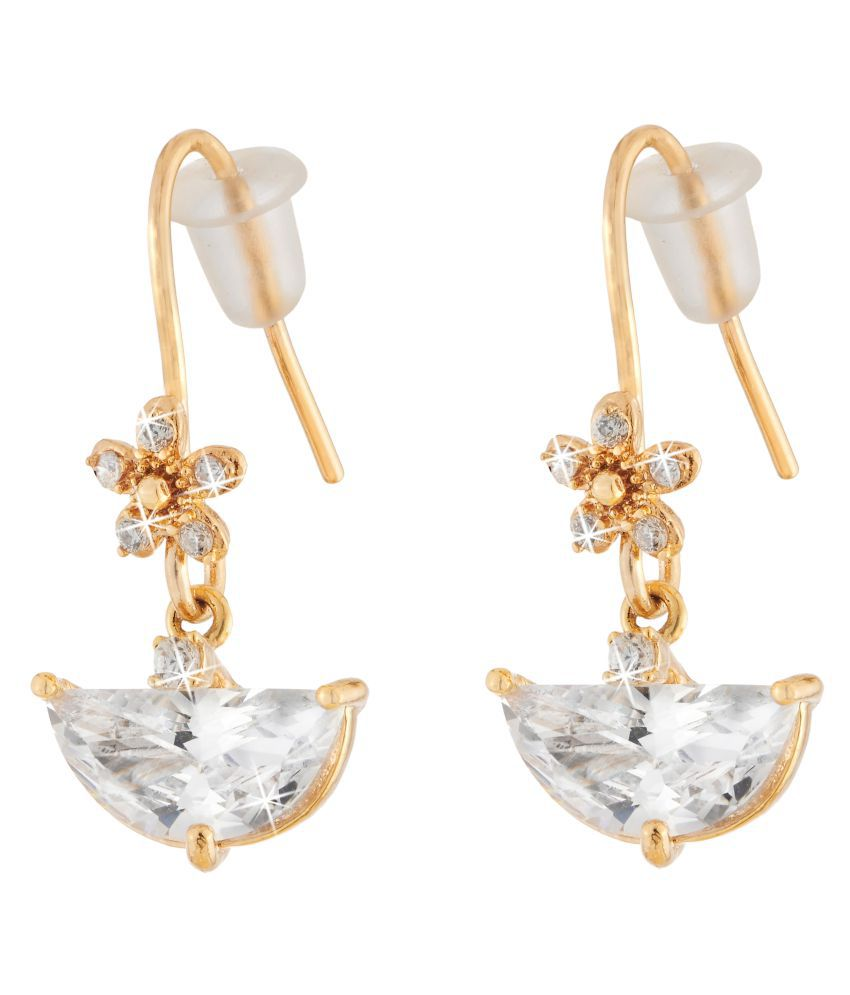 Jazz Stylish Beautiful Gold Plated Charming Design American Diamond AD Stones Studded Party wear Earring for Girls Ladies