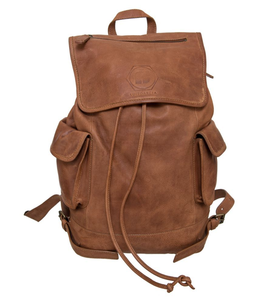 Navshi Tan Pure Leather Backpack