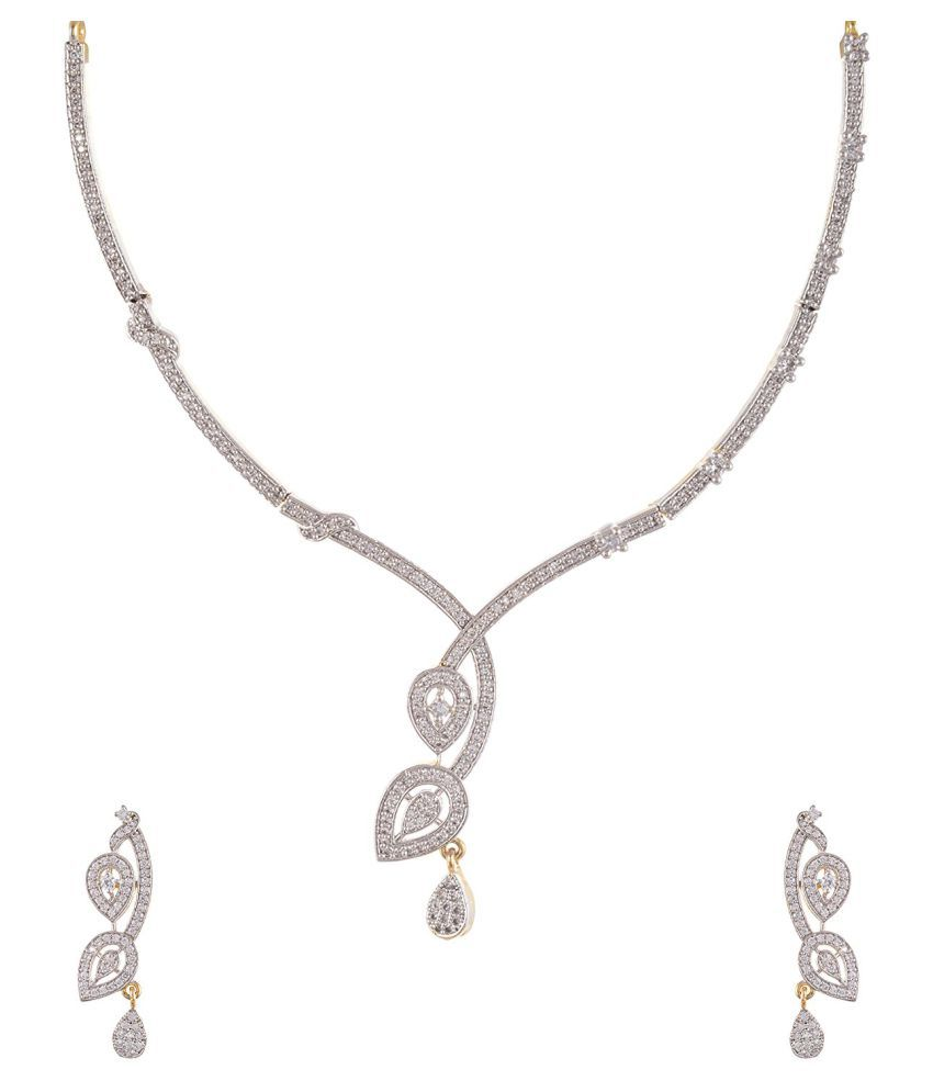 Tistabene Classic Modern Designer Stylish Fancy Party Wear Necklace Set for Girls And Women (NS-0061)