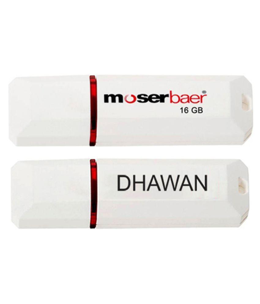 Moserbaer 16GB USB 2.0 Utility Pendrive Single