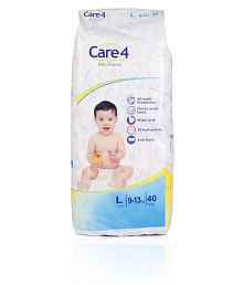 Care4 Hygiene Baby Diapers Large Size (40 Count)