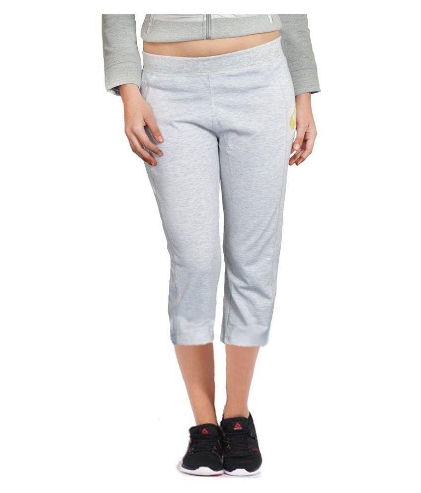 London Eye Cotton Lycra Shorts - Gray