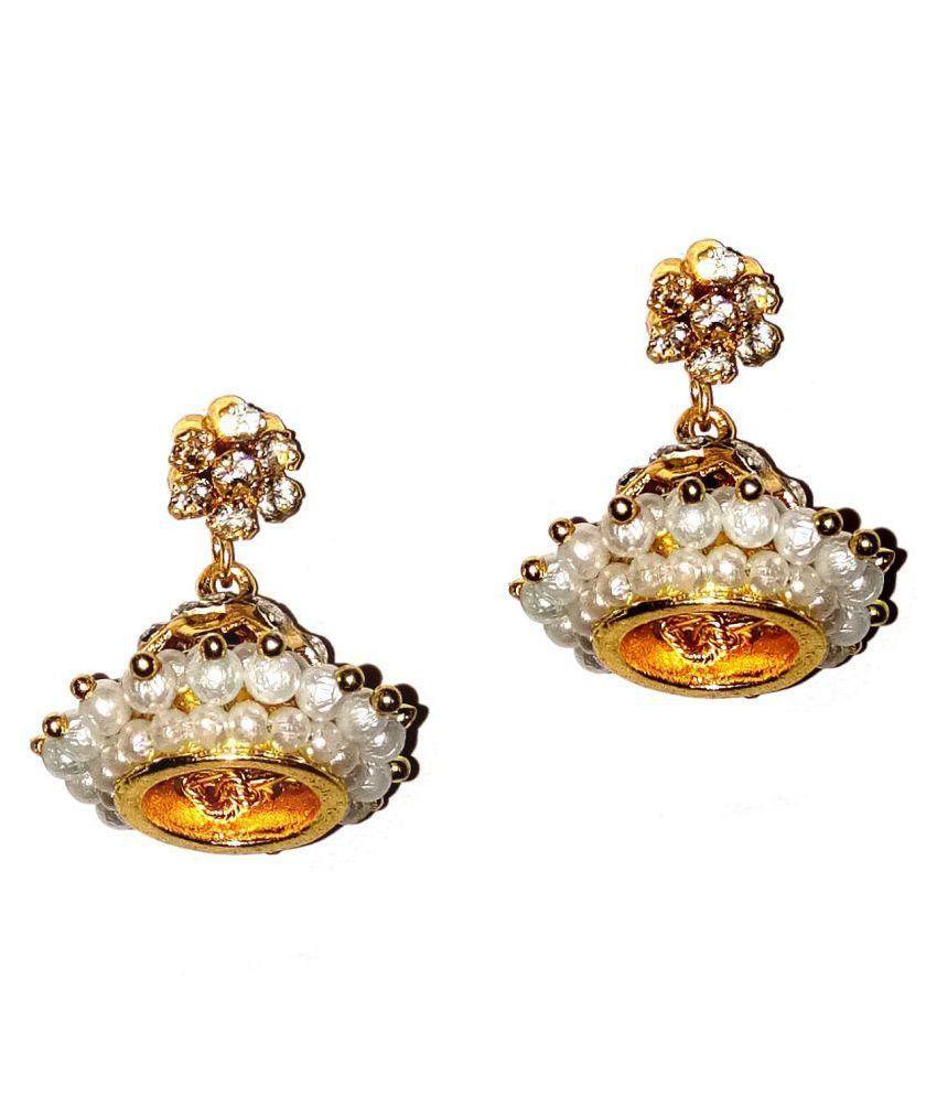 Fashionable  Golden Jhumki Earrings for women & Girls by shrungarika
