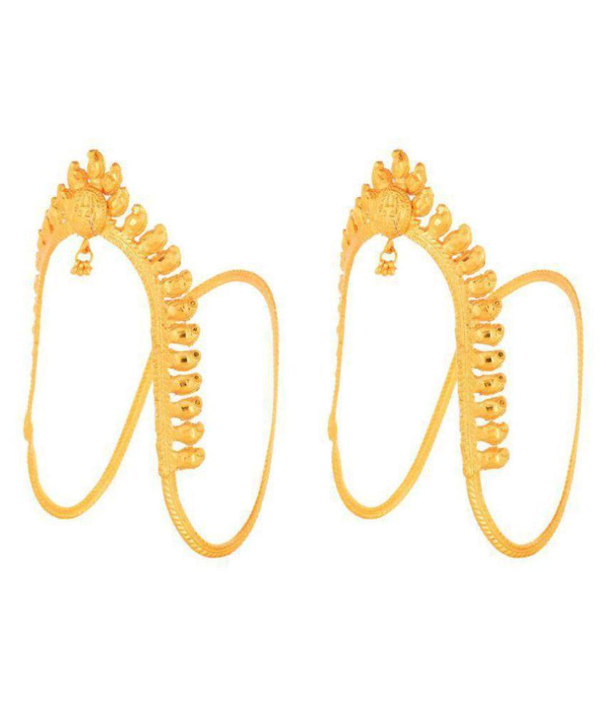 Usha Gold Plating Works Golden Copper Anklets - 1 Pair