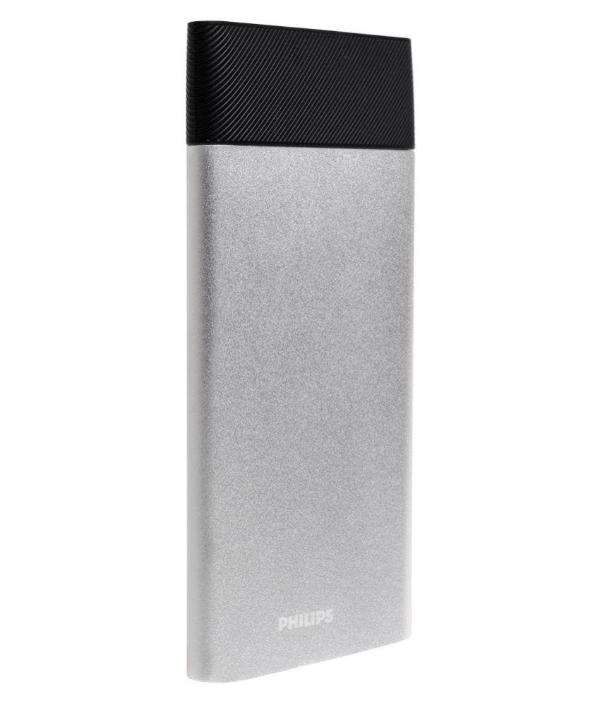 ... Philips DLP10006 10000 -mAh Li-Polymer Power Bank Silver ...
