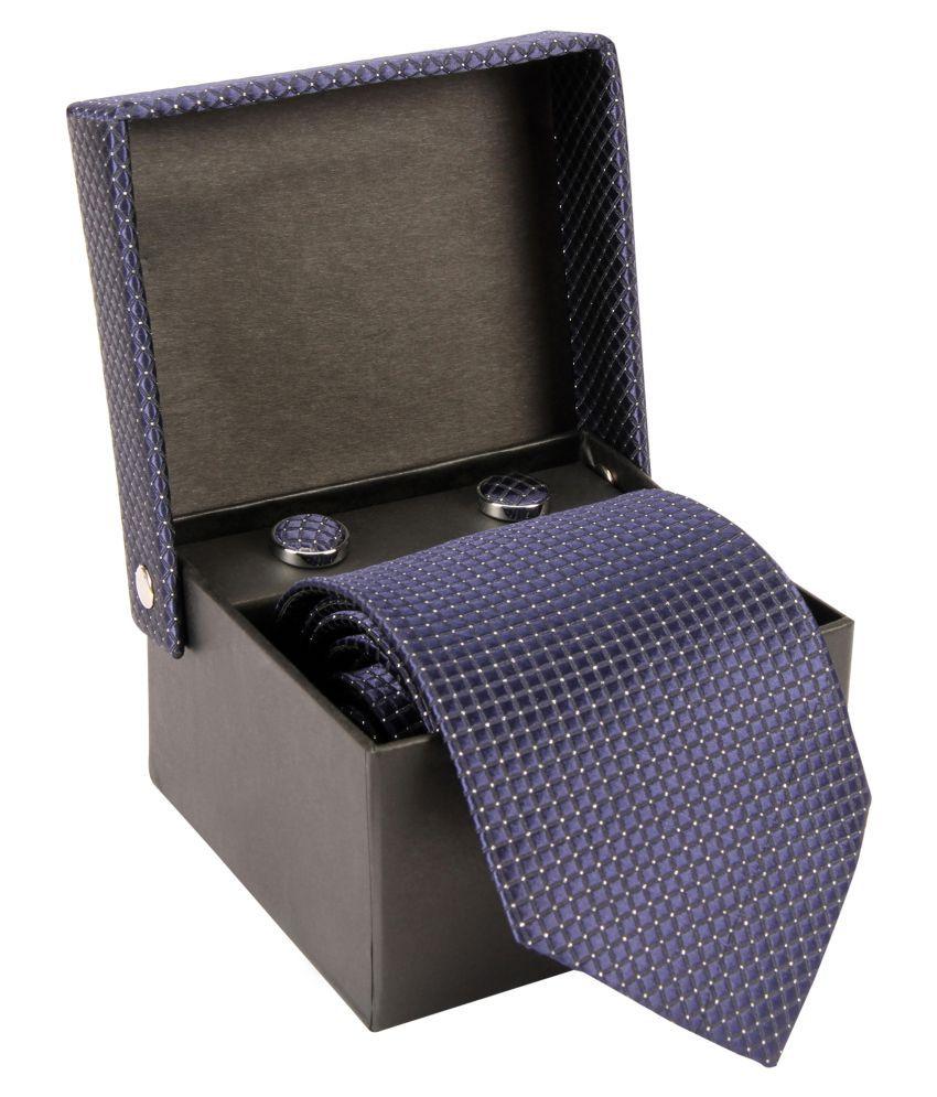 Zido Blue Abstract Woven Necktie