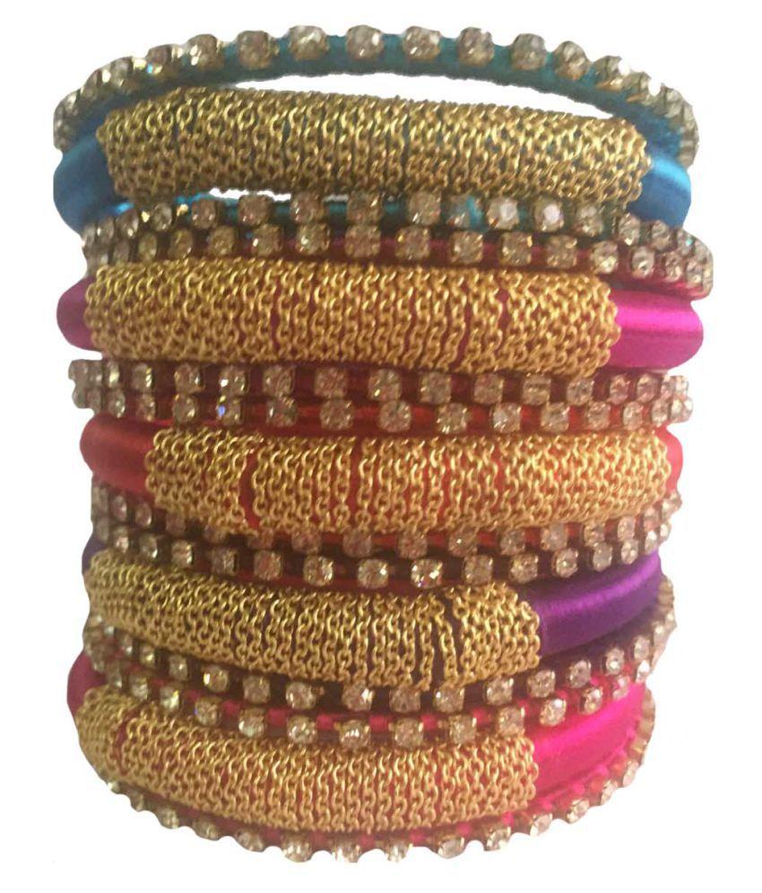 Handmade Silk Dori Bangles Set