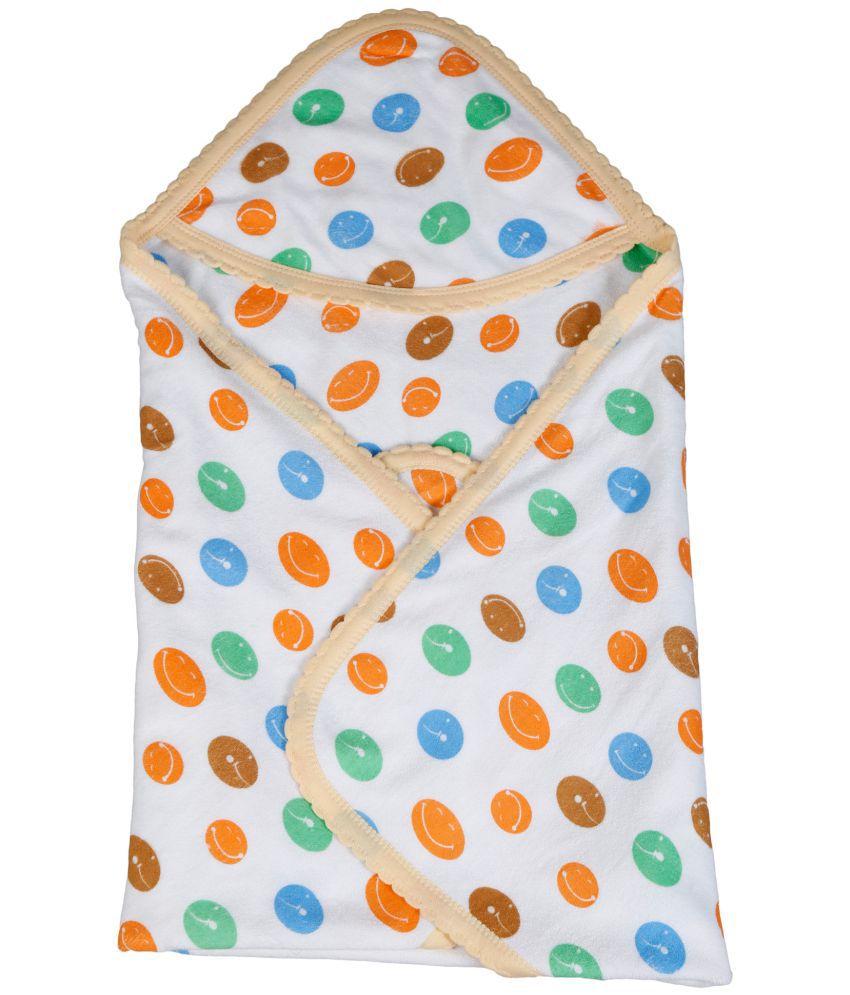 Popees Baby Care Orange Cotton Bath Towels