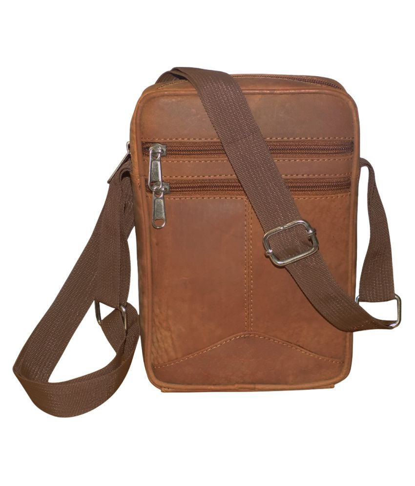 Style 98 Tan Leather Office Messenger Bag