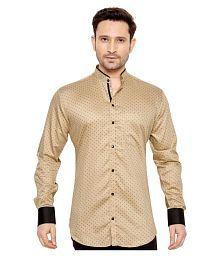 GlobalRang Beige Casual Regular Fit Shirt