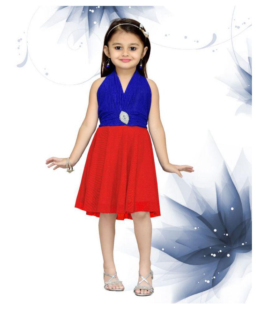 b506c7b24 Aarika Multi colour Party Wear Premium Net Fabric Frock - Buy Aarika ...