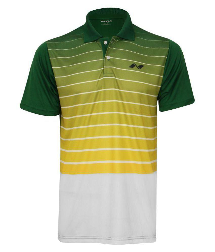 Nivia Gold Polyester Polo T-Shirt