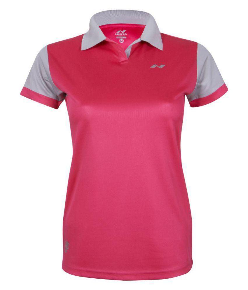 Nivia Polyester Pink Polos